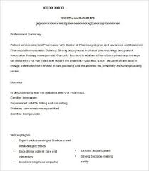 pharmacist resume 9 free word pdf documents download free