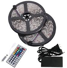 rgb led strip lights 12v bmouo 2 reels 12v 32 8ft waterproof flexible rgb led strip light