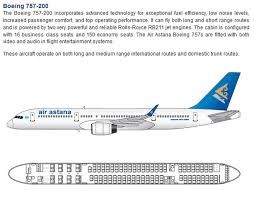 757 seat map air astana airlines boeing 757 200 aircraft seating chart