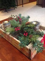 rustic christmas coffee table decor my creations pinterest