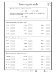 pictures on rounding decimals worksheets printable easy