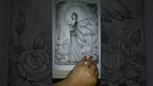 Fairy Colouring Book Greyscale Molly Harrison