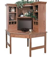 Desk With Top Shelf Corner Archives Amish Oak Furniture U0026 Mattress Store
