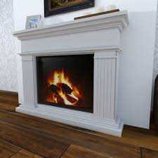 modern fireplace 3d model cgtrader
