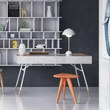 Modern Digs Furniture by Kasper Desk White Lacquer Modern Digs Furniture