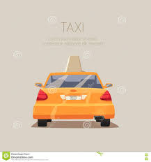 cartoon car back taxi car vector cartoon illustration editorial stock photo