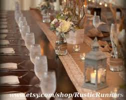 Country Shabby Chic Wedding by Country Rustic Charm Wedding Burlap And Lace Table Runner
