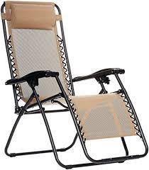 Reclining Gravity Chair Amazonbasics Zero Gravity Chair Beige Garden Outdoor