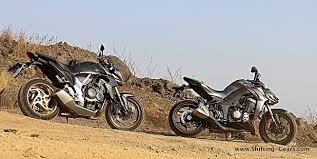 honda cb 1000 kawasaki z1000 vs honda cb1000r shifting gears