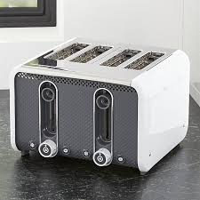 Under Cabinet 4 Slice Toaster Studio By Dualit White Grey 4 Slice Toaster Crate And Barrel