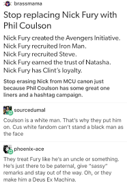 nick fury director fury marvel mcu avengers phil coulson aos