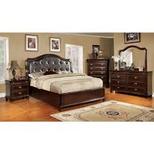 furniture of america arden bedroom set in brown cherry finish
