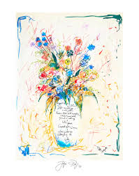 artwork by chef and artist jacques pépin art featuring flowers