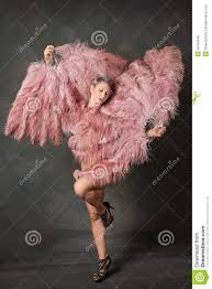 feather fans burlesque dancer with feather fans stock photo image 50164558