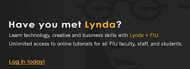 online tutorial like lynda fiu lynda
