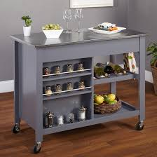 tms columbus kitchen island with stainless steel top apartment