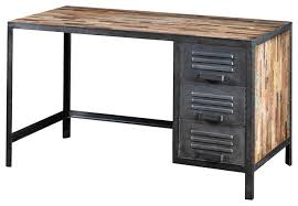 Reclaimed Wood Executive Desk Recycled Wood And Industrial Metal Locker Style Desk Industrial