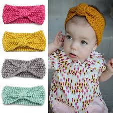 crochet hair bands knot headband bebe girl winter crochet newborn wrap warmer