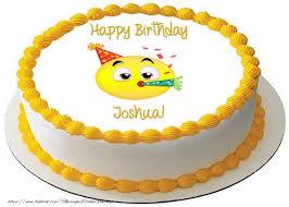 cake happy birthday joshua greetings cards for birthday for