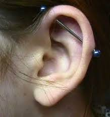 earring top of ear piercings scaffolding industrial piercings can take from 3