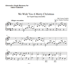 merry christmas harp column music
