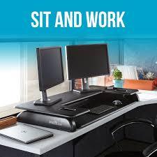 amazon com varidesk height adjustable standing desk for