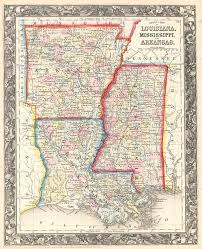 County Map Of Mississippi County Map Of Louisiana Mississippi And Arkansas Barry Lawrence