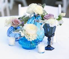 blue centerpieces decorating ideas image of white wedding table design and