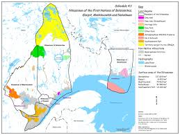 Quebec Canada Map Agreement In Principle Of General Nature Between The First Nations