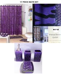 Shower Curtains With Matching Accessories 17 Bath Accessory Set Purple Zebra Shower