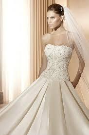 handmade beading top strapless matte satin ivory ball gown wedding