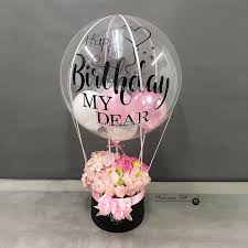 balloon in a box klcc online florist flower box with balloon wording opening