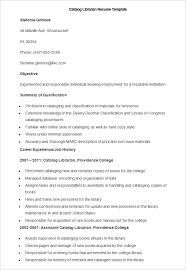 Resume Format For Librarian How To Make A Good Teacher Resume Template