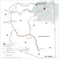 Map Of Grand Canyon Powering The Central Arizona Project Canal Grand Canyon Trust