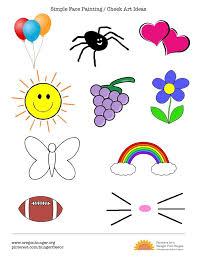 simple cheek painting ideas simple quick and easy face painting and cheek art ideas options arts