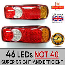 46 led truck rear tail light lorry fits mitsubishi fuso canter 2 x