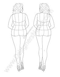 free download fashion figure template of plus size croqui in a