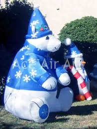aliexpress com buy outdoor xmas inflatable sitting polar bear in