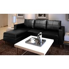 3 Seat Sectional Sofa Vidaxl 3 Seater L Shaped Artificial Leather Sectional Sofa Black