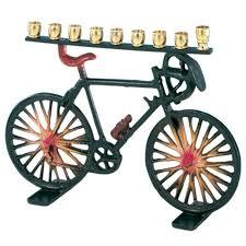 kids menorahs bicycle menorah