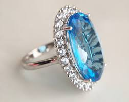 topaz engagement ring blue topaz engagement ring etsy