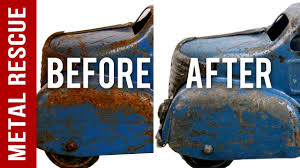 Remove Rust From Metal Furniture by How To Remove Rust From A Vintage Old Rusty Metal Toy Truck Youtube