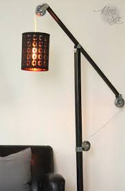 Industrial Floor Lamp Industrial Zinc Pulley Floor Lamp Pottery Barn Knockoff The