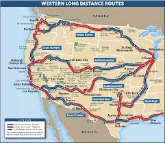 Map Routing by Review Of Amtrak U0027s California Zephyr And Coast Starlight The