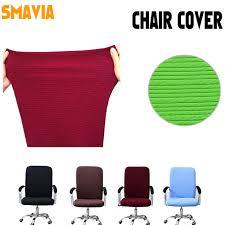 housse chaise de bureau solide bande bureau élastique housse fauteuil polyester et coton