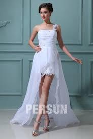 robe mari e courte devant longue derriere robe de mariage plage à une épaule courte devant longue derrière