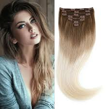clip in human hair extensions 5a grade 24 clip in human hair extensions ombre three tone