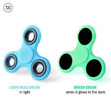 fidget spinner light up blue green glow in the dark fidget spinner light up gadget blue in