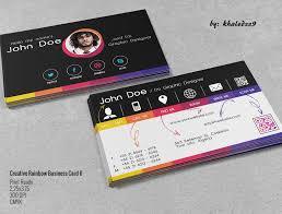 creative rainbow business card ii by khaledzz9 on deviantart