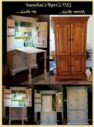 craft cabinet with fold out table this one of a kind craft armoire with fold out table offers storage